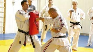 прямой удар рукой в карате